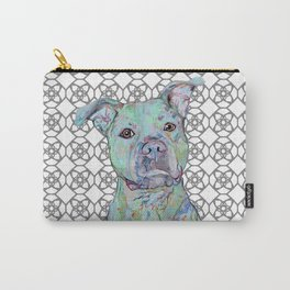 Staffy Portrait Carry-All Pouch
