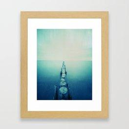 pinhole-ins 124, sea Framed Art Print