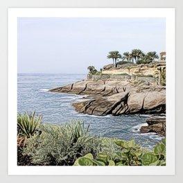 Tenerife/Teneriffa,painted Art Print