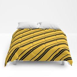Potterverse Stripes - Hufflepuff Yellow Comforters