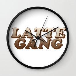 Latte gang Wall Clock