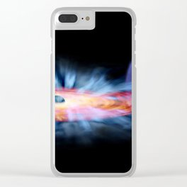 M Weiss - Artist's Illustration of GRO J1655-40, a binary black hole and star system (2015) Clear iPhone Case