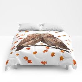 autumn owl Comforters