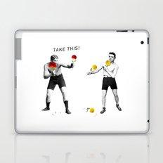 Floral fight - humor Laptop & iPad Skin