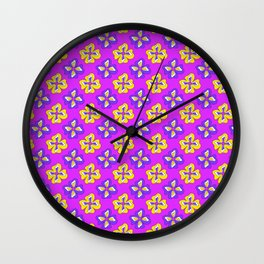 Pop pansy pattern! Wall Clock