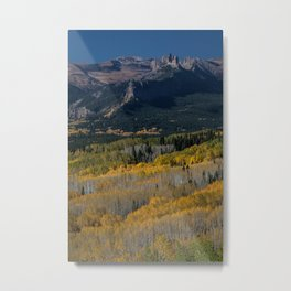 Aspens and the Castle Metal Print