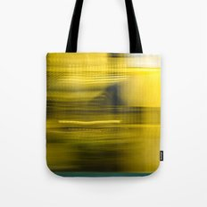Yellow Lights Speed Effect Tote Bag
