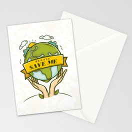Save the Earth Stationery Cards