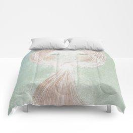 Winter Beard, Ginger Haired Girl Comforters