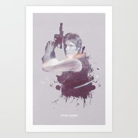 han solo Art Prints featuring Han Solo by Diego Rodriguez