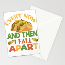 Taco Funny Mexican Food Feista Cinco De Mayo Stationery Cards