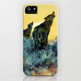 """Howling Wolf Sagebrush"" by W Herbert Dunton iPhone Case"