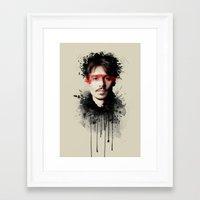 johnny depp Framed Art Prints featuring Johnny Depp by Brigitta