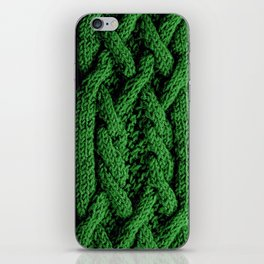 Irish sweater (green) iPhone Skin