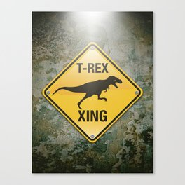 T-Rex Crossing Canvas Print