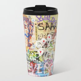 Peace on Earth - Love - Because the World is Round it Turns me On Travel Mug