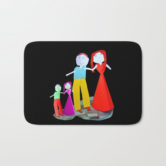 Dance me to the end of love   Kids Painting by Elisavet Bath Mat
