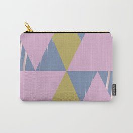 TRIANGULAR COLLAGE GOLD Carry-All Pouch