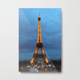 Stormy Nights, Parisian Lights - Eiffel Tower in Paris, France Metal Print