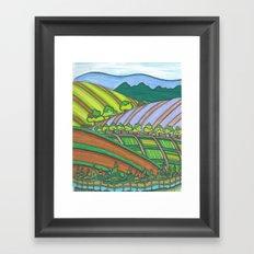 Colored Hills Framed Art Print