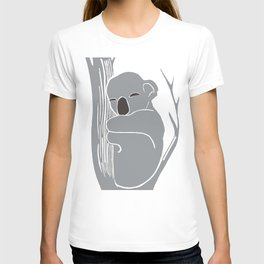 Sleeping Koala Printmaking Art T-shirt
