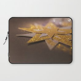Gold and silver sparkly star design Laptop Sleeve