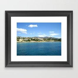 Cyprus Beach Framed Art Print