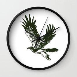 Eastern imperial eagle (Aquila heliaca) Wall Clock