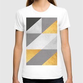 Gray and gold texture II T-shirt