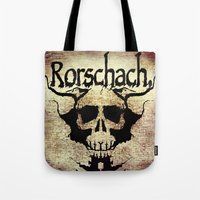 rorschach Tote Bags featuring Rorschach by Dominic Mastracchio