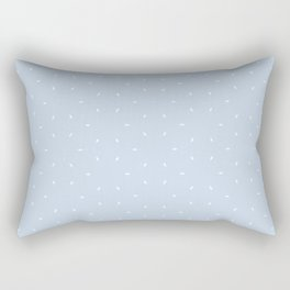 Pale Blue And White subtle pattern Rectangular Pillow
