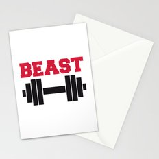 Beast Barbells Gym Quote Stationery Cards