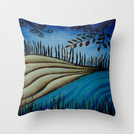 Riverlandscape Throw Pillow