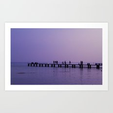 The Pier, Lake Garda  Art Print