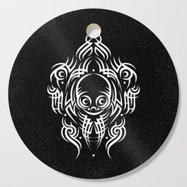 Alien Tribal Tattoo - white Cutting Board