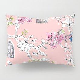 Victorian Birds garden Pillow Sham