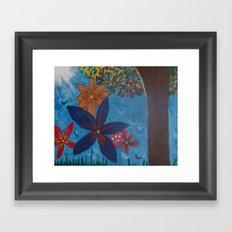 Flowers in the Wind Framed Art Print