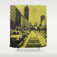 milan Shower Curtains featuring Milan 2 by Anand Brai