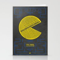 pac man Stationery Cards featuring Pac-Man Typography by Kody Christian
