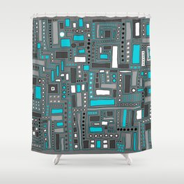 Turquoise Dream (Pattern) Shower Curtain