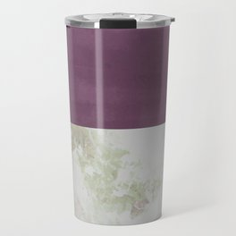 Bit of Brushstroke - Fuschia & Sage Travel Mug