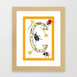 Summer love letter C illuminated letter Framed Art Print
