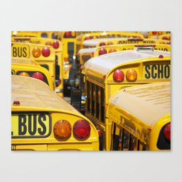 Brooklyn: School Buses Canvas Print