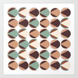 Geometric circle pattern 02 Art Print