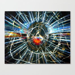 Corinne's Magic, Glass and Light Scanography Canvas Print