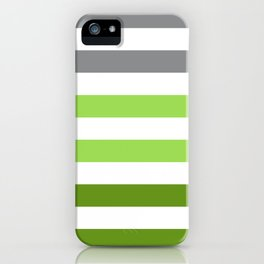 Stripes Gradient - Green iPhone Case