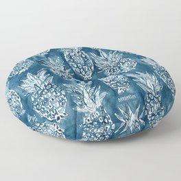 PINEAPPLE STANCE Indigo Boho Watercolor Floor Pillow