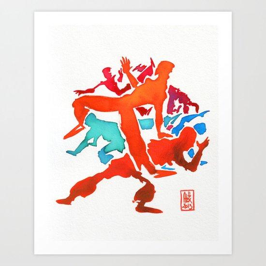 Capoeira 241 Art Print