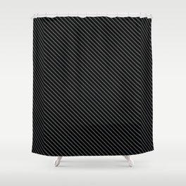 Dark Shadow and Black Stripe Shower Curtain