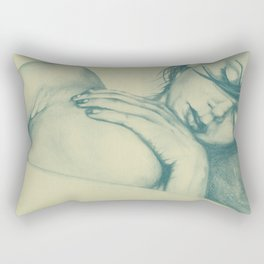 As Heaven Awaits: Celadon Rectangular Pillow